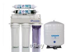 Système De Filtre D'eau Par Osmose Inverse À Double Sortie 150 Gpd Ro / DI À Boire / Aquarium