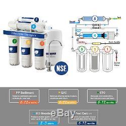 Système De Filtre De Filtration Pour Épurateur D'eau Potable À La Maison D'osmose Inverse À 5 Étapes