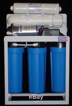 Système De Pompe De Filtration De L'eau Par Osmose Inverse Commerciale De 300 Gpd + Réservoir 14gal