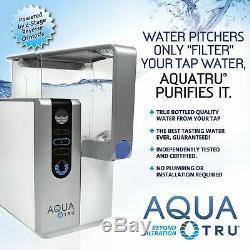 Système De Purification De Filtre À Eau De Comptoir Aquatru Avec Exclusivité À 4 Étapes