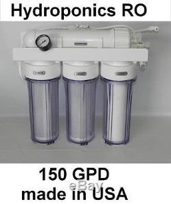 Système Hydroponique 150g Osmose Inverse Ro Système De Filtre À Eau Transparent Dans Un Logement Libre