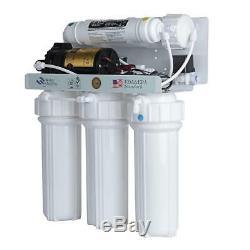 Système Pur De Filtre D'eau De Ro D'osmose D'inversion De La Machine 5 De L'eau Avec La Pompe