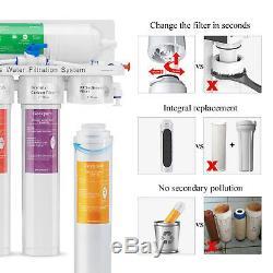 Système Ro À Osmose Inverse En 5 Étapes À Boire Avec Filtres Twist Installation Facile 75gpd
