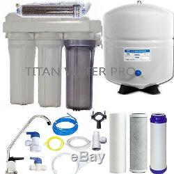 Systèmes De Filtration D'eau À Osmose Inversée Double Sortie Ro / DI Réservoir 6 G -100 Gpd