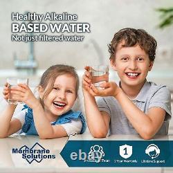 T2-100gpd 6 Étapes Alcaline Ro Osmose Inverse Système De Filtration D'eau Potable