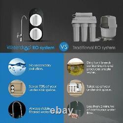 Tankless 7-stage Reverse Osmosis Water Filtration System Par Waterdrop Black