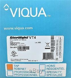 Uv Viqua Sterilight Vt4 Ultraviolet Tap Filtre À Eau Désinfection Système 3.5 Gpm