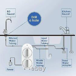 Waterdrop 600 Gpd Ro Système De Filtration D'eau Par Osmose Inverse, 21 Pur À Drainer