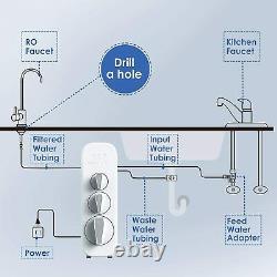 Waterdrop Ro Osmose Inverse Système De Filtration De L'eau Potable 400 Gpd Tankless