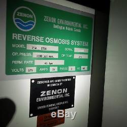 Zenon Osmose Inverse (ro) Système 11,9 Gpm Excédent Non Utilisé